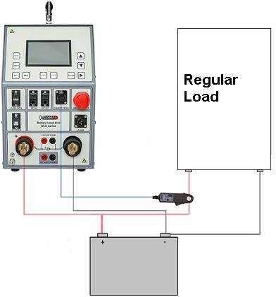 Connection diagram of battery capacity tester