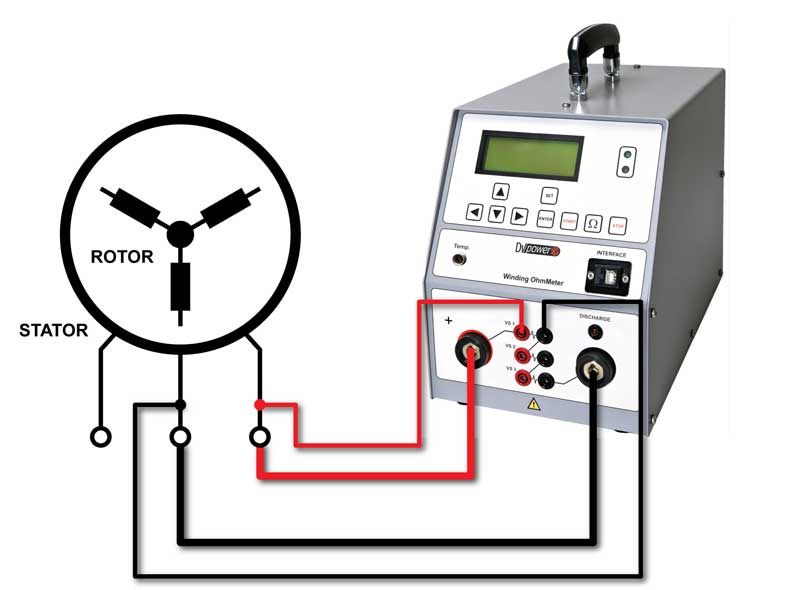 Winding Ohmmeter Connection Diagram